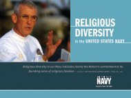 religious diversity - Naval History and Heritage Command - U.S. Navy