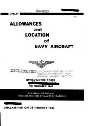 ALLOWANCES and LOCATION of NAVY AIRCRAFT - Naval History ...