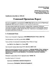 Command Operations Report - Naval History and Heritage Command