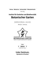 Hortus Botanicus Universitatis Monasteriensis - Botanischer Garten ...
