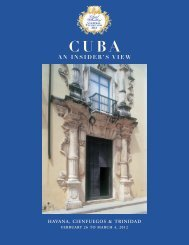 cuba, an insider's view - Colonial Williamsburg
