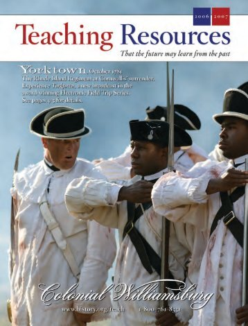 Teaching Resources Catalog 2006-2007 - Colonial Williamsburg