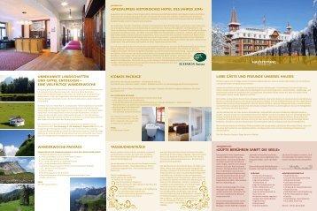 Hauszeitung 2014 - Jugendstil-Hotel Paxmontana