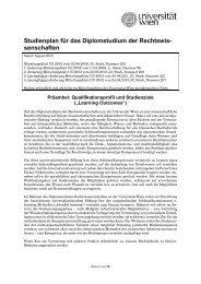 DS Rechtswissenschaften - Senat - Universität Wien