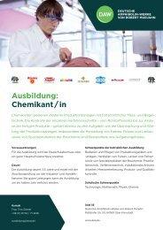 Ausbildung: Chemikant / in - DAW
