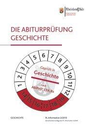 die abiturprüfung geschichte - Gymnasien in Rheinland-Pfalz