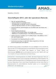 Pressemitteilung: Geschäftsjahr 2012: Jahr der ... - Austria Metall AG
