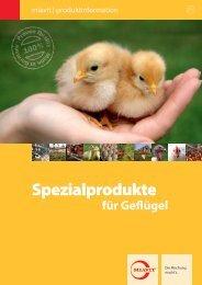 Flyer Spezialprodukte für Geflügel herunterladen - Miavit