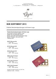 B2B SORTIMENT 2013