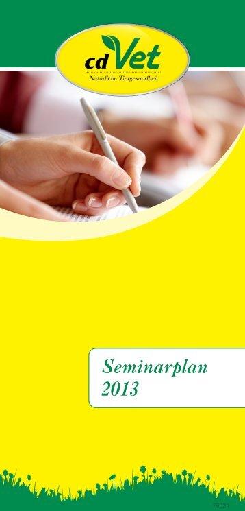 Seminarplan 2013