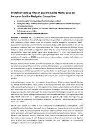 Münchner Start-up Kinexon gewinnt Galileo Master 2013 der ... - TUM