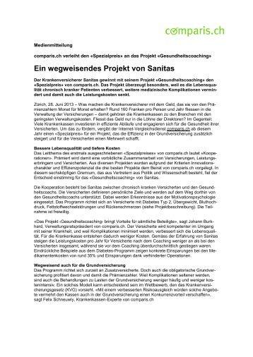 Download der Medienmitteilung als PDF - Comparis.ch