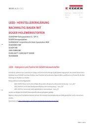 LEED Punkte (PDF) - EGGER