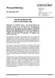 Q2 Press Release - Düsseldorf Realestate