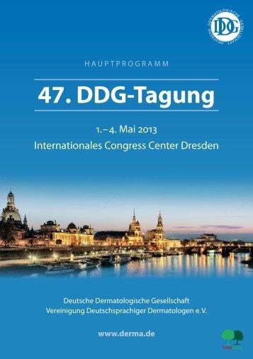 Hauptprogramm der 47. DDG-Tagung - Derma.de