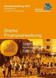 Geschäftsbericht 2013.indd - Bayerische Finanzgewerkschaft