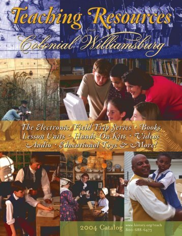 Teaching Resources Catalog - Colonial Williamsburg