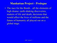 Manhattan Project - Prologue - UCSB Department of History
