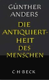Die Antiquiertheit des Menschen, Bd. 1