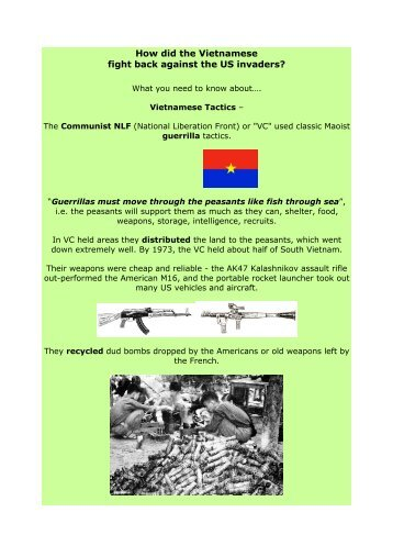 How did the Vietnamese fight back against the US invaders?