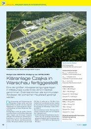 Kläranlage Czajka in Warschau fertiggestellt - ILF Consulting ...