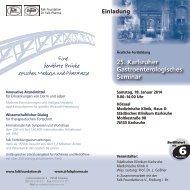 25. Karlsruher Gastroenterologisches Seminar - Dr. Falk Pharma ...