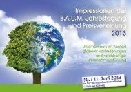 Dokumentation der Tagung als PDF - B.A.U.M. e.V.