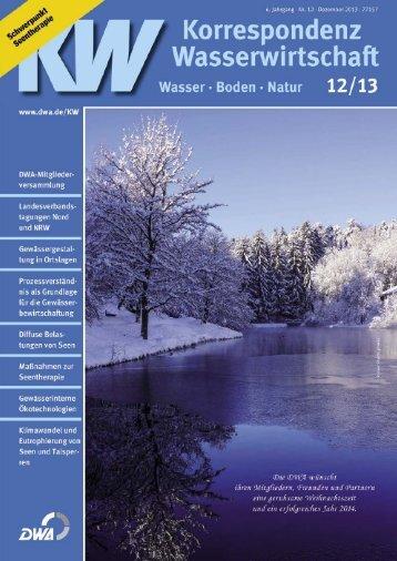 Aktuelle Leseprobe KW 12/2013 - DWA - Deutsche Vereinigung für ...