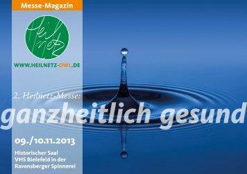 Das Messe-Magazin 2013 - Gesundheit für weniger Geld