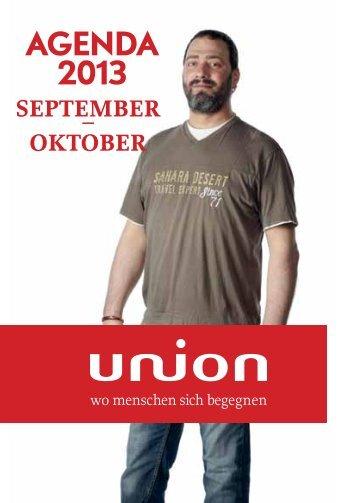Veranstaltungen September bis Oktober 2013 - Union