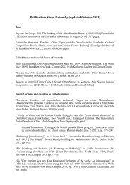 Publications Sören Urbansky (updated October 2013)