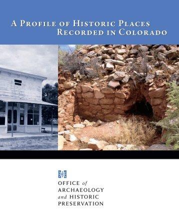Profile of the Cultural Resources of Colorado - History Colorado