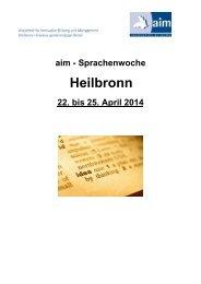 Studium Plus – Wintersemester 05/06 - aim-akademie.org
