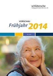 Vorschau Pflege Frühjahr 2014 - Schlütersche Verlagsgesellschaft