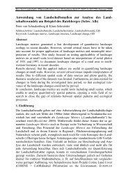 Anwendung von Landschaftsmaßen zur Analyse des Land ...