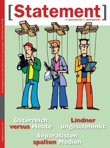 November 2013 - Österreichischer Journalisten Club