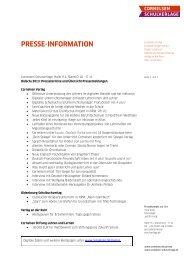 didacta 2013_Pressemappe - Cornelsen Verlag