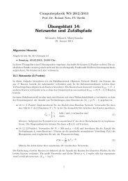 Übungsblatt 14: Netzwerke und Zufallspfade - Userpage