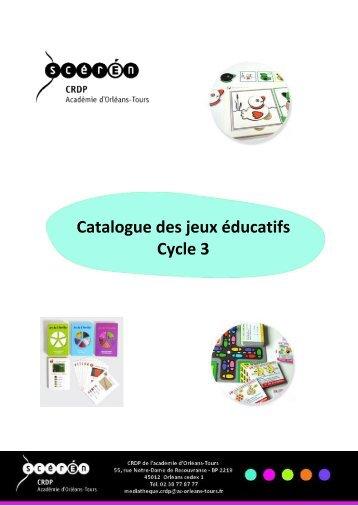 Catalogue des jeux éducatifs Cycle 3 - Cndp