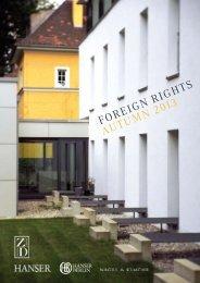 FOREIGN RIGHTS AUTUMN 2013 - Hanser Literaturverlage