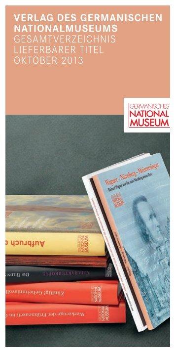 Gesamtverzeichnis (PDF) - Germanisches Nationalmuseum