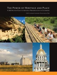 The Power of Heritage and Place: A 2020 Action ... - History Colorado
