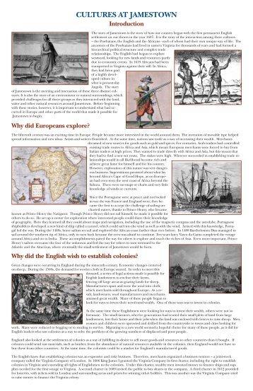 colonial jamestown essay