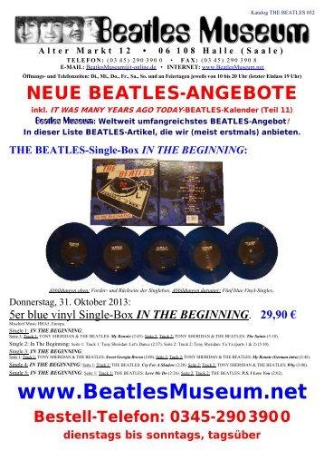 Beatles Museum - Katalog 32