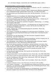 Publikationsverzeichnis - International Society for the History of ...