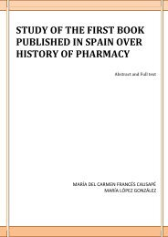 study of the first book published in spain over history of pharmacy