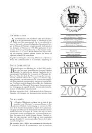 Newsletter 6, 2005 - International Society for the History of Pharmacy