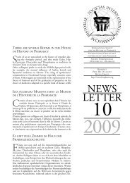 IGGP 2 2009 - International Society for the History of Pharmacy