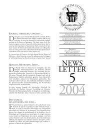 Newsletter 5, 2004 - International Society for the History of Pharmacy