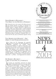 Newsletter 4, 2003 - International Society for the History of Pharmacy